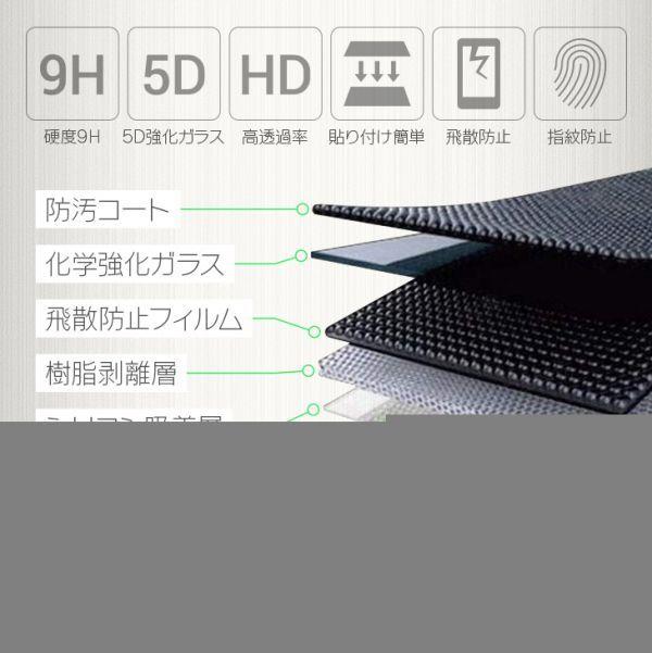 【送料無料】Huawei P20 Pro 強化ガラスフィルム 液晶保護 フィルム全面保護超薄5D強化ガラス 硬度9H 高透過率 飛散防止 指紋防止_画像4