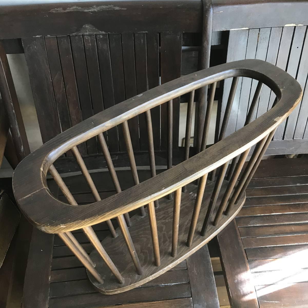 貴重!アメリカアンティーク Antique本の収納ラック 木製USA/カリフォルニア西海岸店舗什器ヴィンテージ50's60's70's_画像5