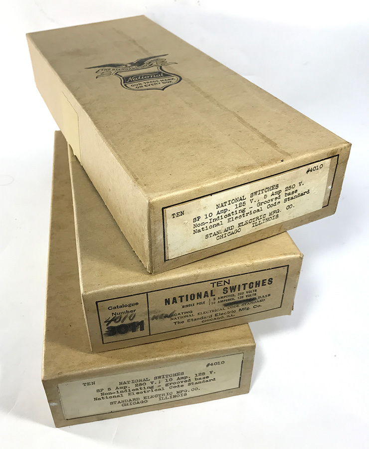 【デッドストック!】1930'sアンティークスイッチ/壁付け/ビンテージ/デスクライト/店舗什器/ペンダントライト/照明/gras/o.c.white/壁_画像2