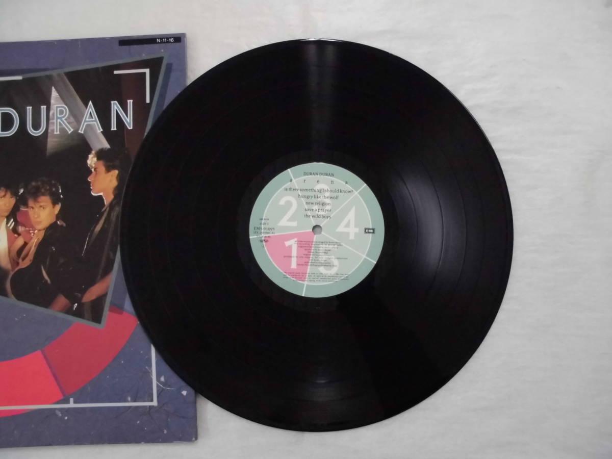 良盤屋 P-1191◆LP◆ENS-91095 Synth-pop  デュランデュラン - アリーナ Duran Duran Arena 1984  送料380_画像9