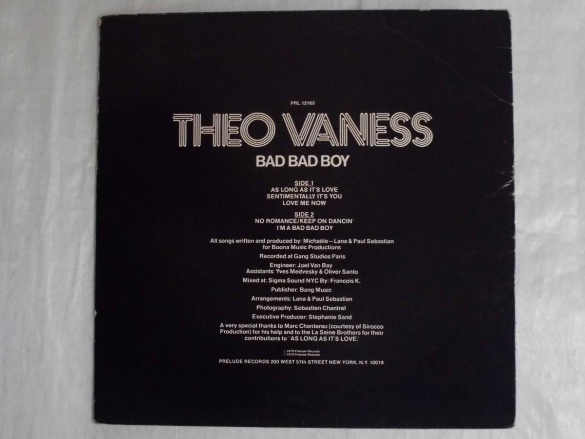 良盤屋 P-1308◆LP◆PRL-12165  Funk / Soul  バッドバッドボーイ Theo Vaness Bad Bad Boy 1979 US盤 送料380_画像2