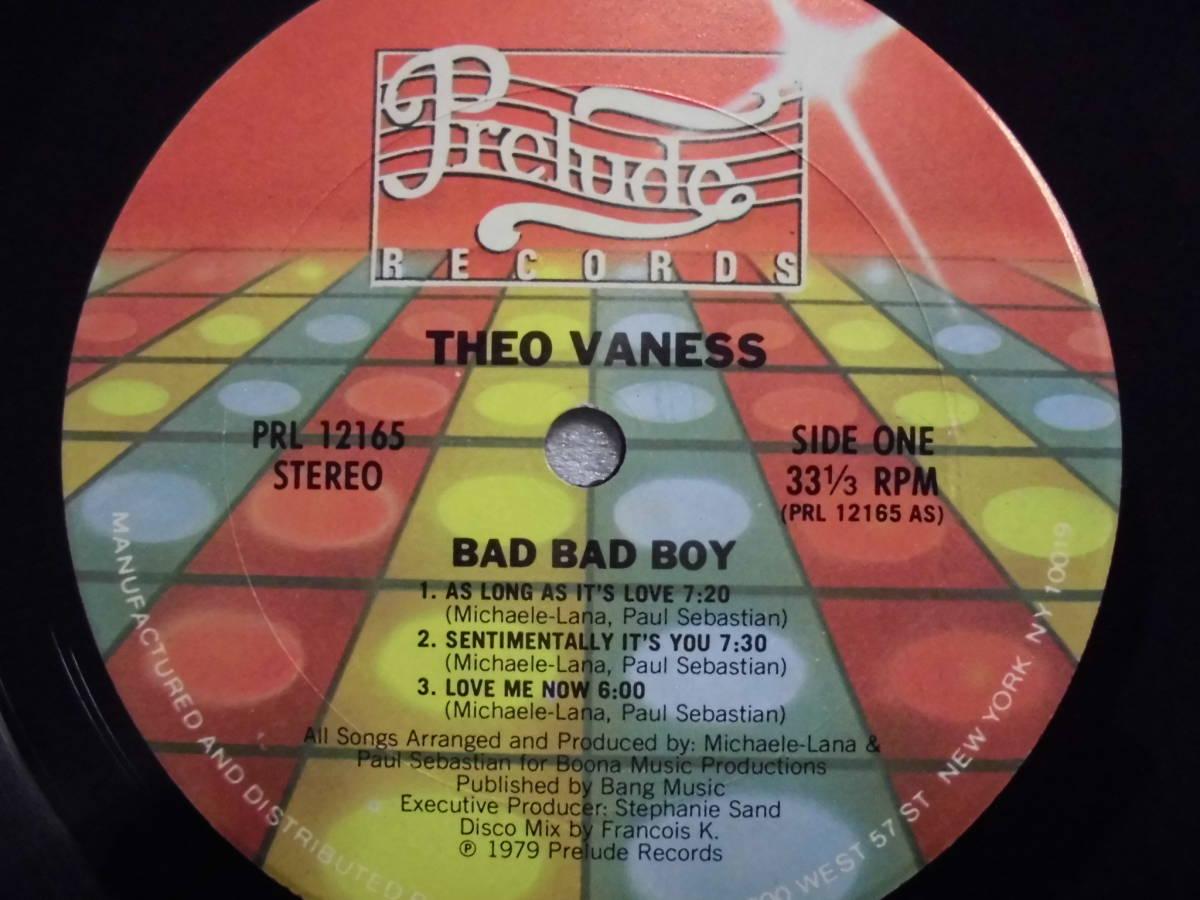 良盤屋 P-1308◆LP◆PRL-12165  Funk / Soul  バッドバッドボーイ Theo Vaness Bad Bad Boy 1979 US盤 送料380_画像6