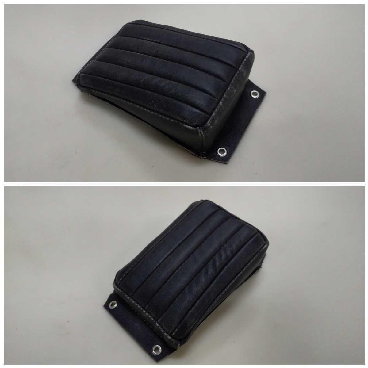 即決 本革製 ピリオンパッド 黒 パンナックル ショベル xlch WL サイドバルブ ベイツ ヴィンテージ ジュリアーリ チョッパ BATES