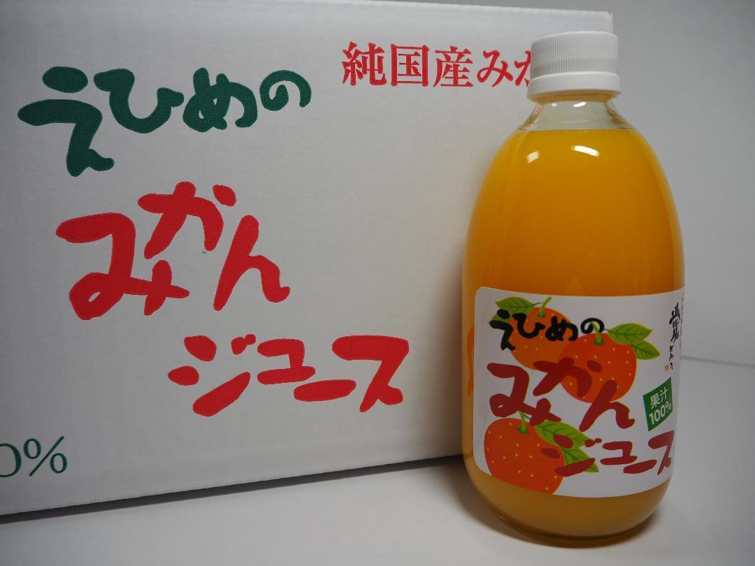 地元道の駅でも販売しています!!愛媛県産果汁100%えひめみかんジュース500mlx12本入_画像1