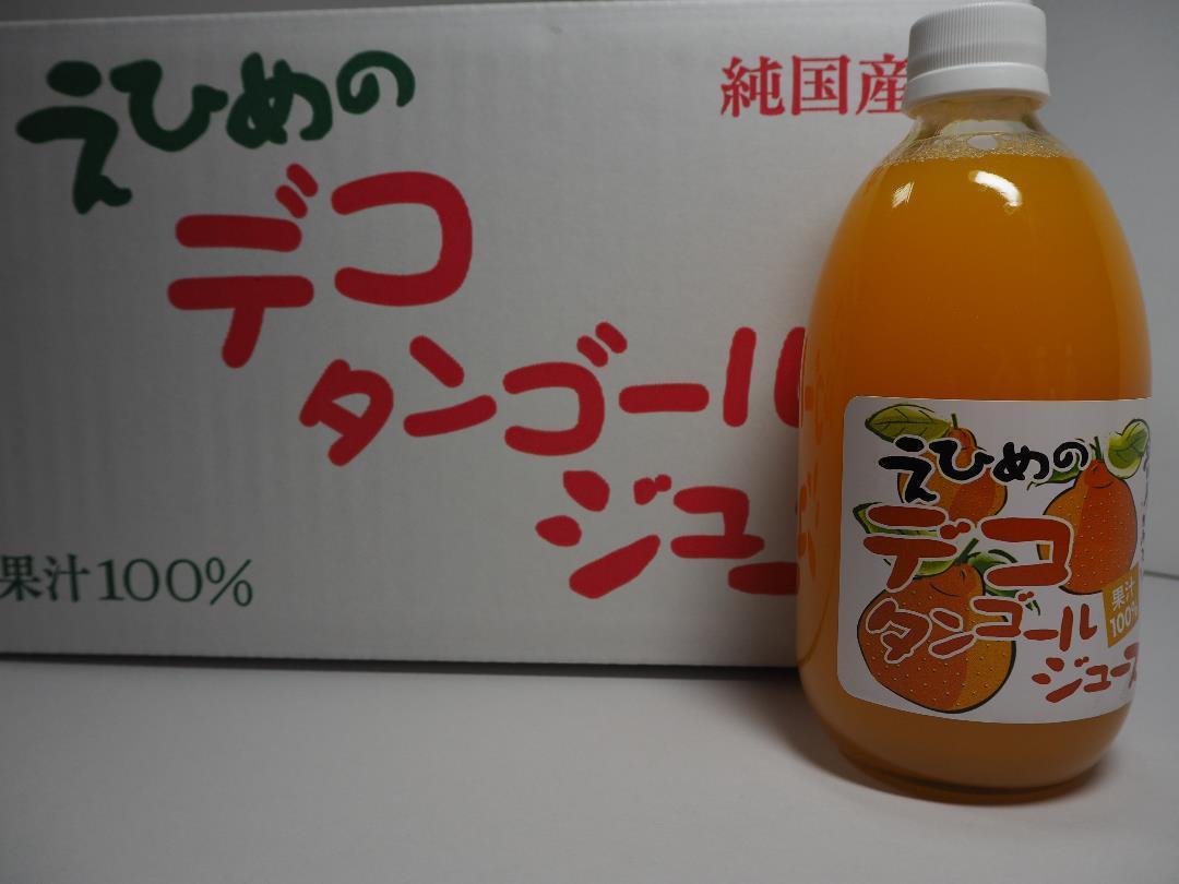 地元道の駅で人気の愛媛県産果汁100%デコタンゴールストレートジュース500mlx12本入り管理ナンバー34_画像1