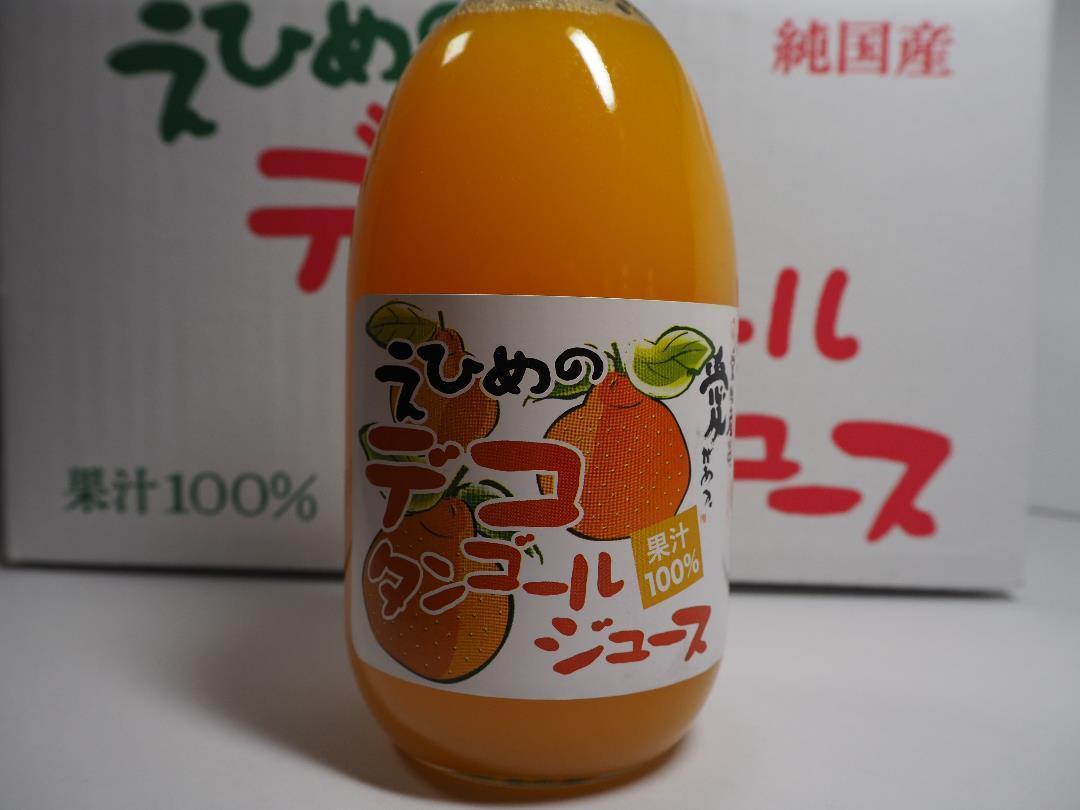 地元道の駅で人気の愛媛県産果汁100%デコタンゴールストレートジュース500mlx12本入り管理ナンバー34_画像2