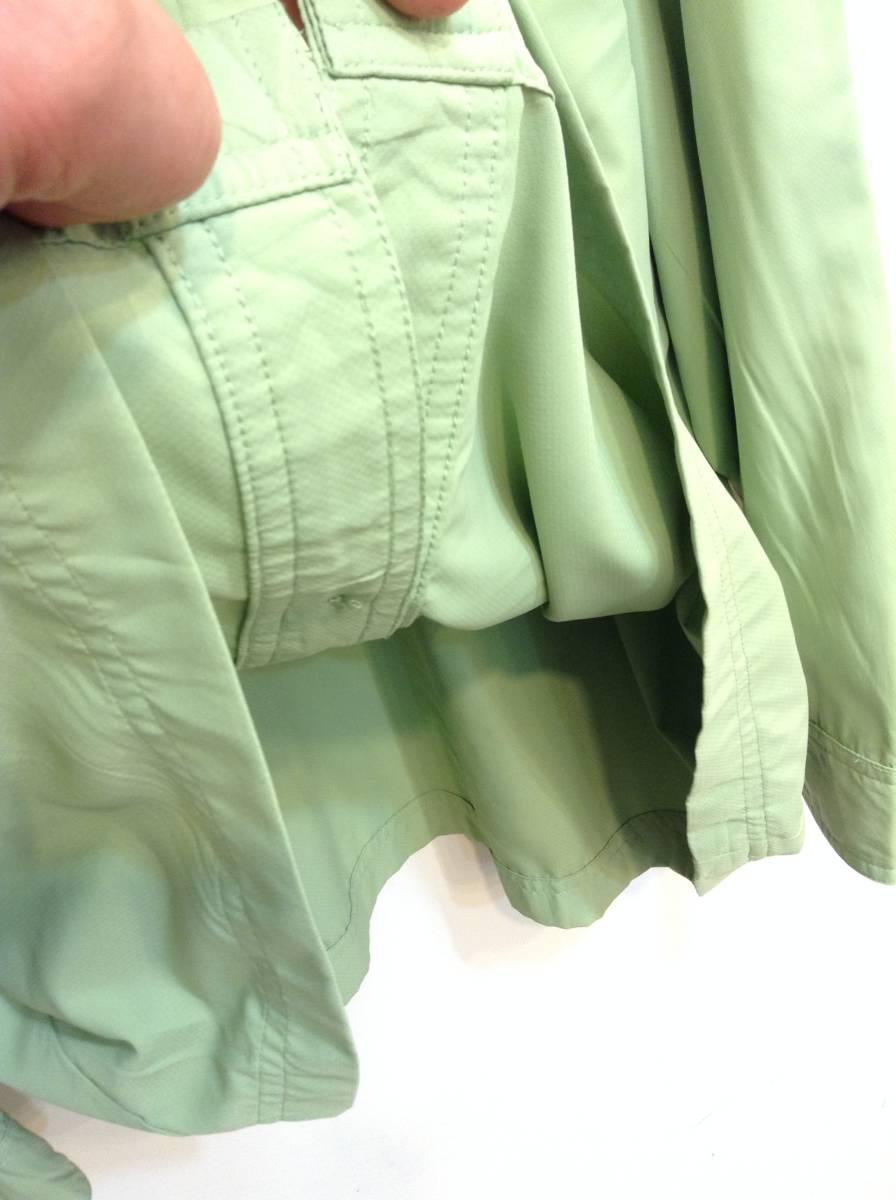 UNDER ARMOUR アンダーアーマー 背中裏地メッシュ 長袖シャツ スポーツ アウトドアウェア メンズXL~ 大きめ 黄緑 良品綺麗_画像4