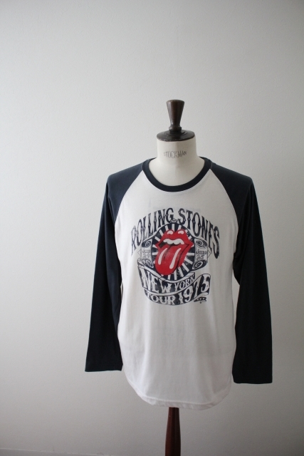 【THE ROLLING STONES】ザ・ローリング・ストーンズ ツアーTシャツ ラグラン ロンT 復刻 古着 LLサイズ 大きいサイズ_画像1