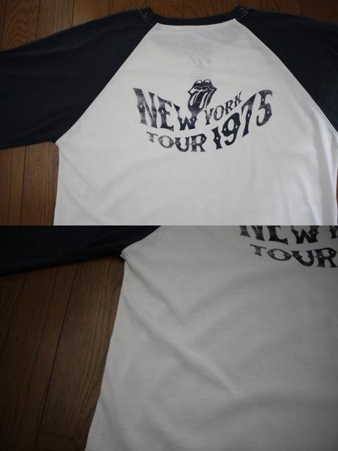 【THE ROLLING STONES】ザ・ローリング・ストーンズ ツアーTシャツ ラグラン ロンT 復刻 古着 LLサイズ 大きいサイズ_画像7