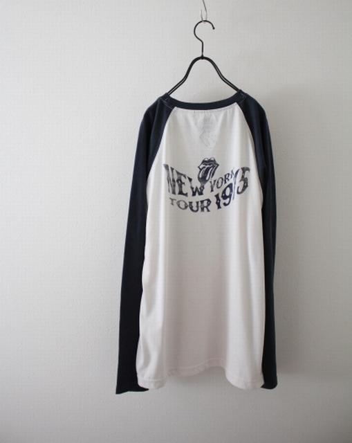 【THE ROLLING STONES】ザ・ローリング・ストーンズ ツアーTシャツ ラグラン ロンT 復刻 古着 LLサイズ 大きいサイズ_画像4