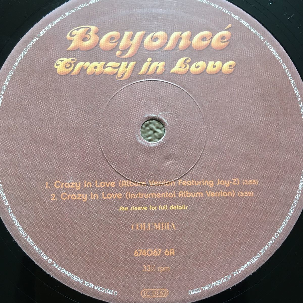 Beyonce / Crazy In Love remix / Album Ver. F. Jay-Z / Chi-Lites - Are You My Woman / 12 レコード_画像3