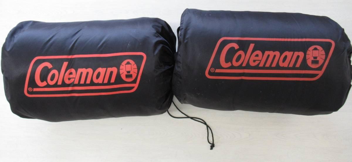 コールマン Coleman シュラフ 寝袋 シングル 2点セット 封筒型 キャンプ アウトドア 車中泊_画像1