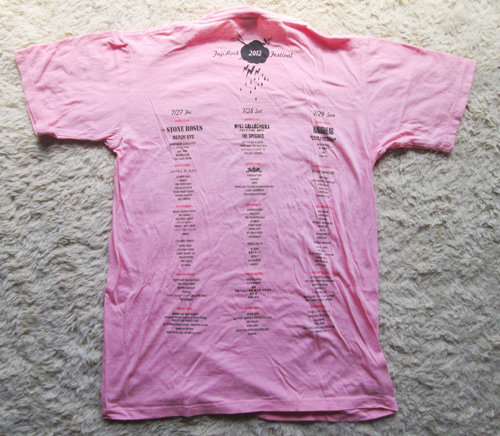 FujiRock Tシャツ Sサイズ フジロック2012 ストーン・ローゼズ ノエル レディオヘッド_画像2