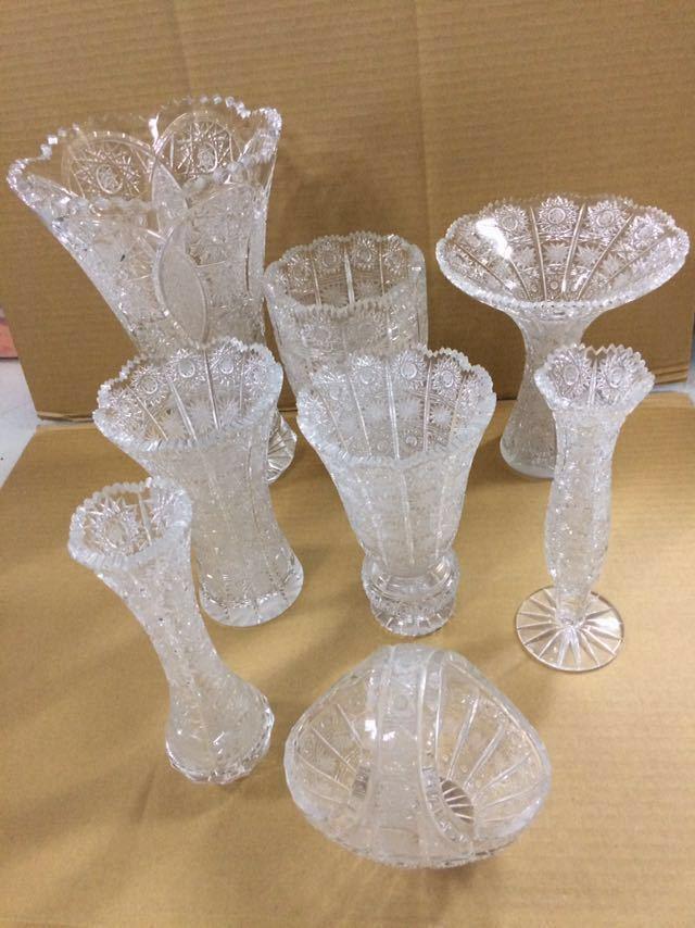 クリスタルガラス 花瓶 ボヘミア 大_画像2
