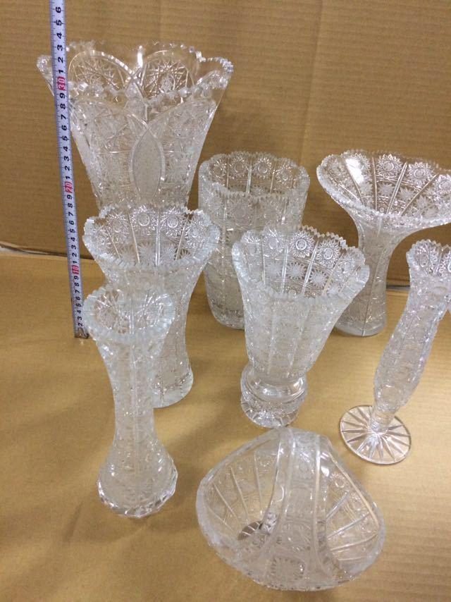 クリスタルガラス 花瓶 ボヘミア 大_画像3