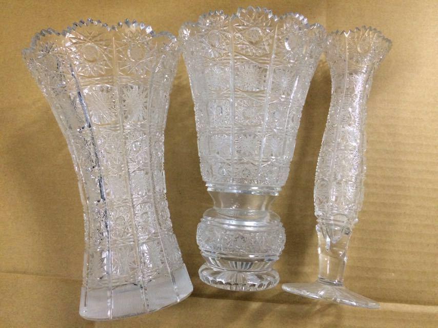 クリスタルガラス 花瓶 ボヘミア 大_画像4