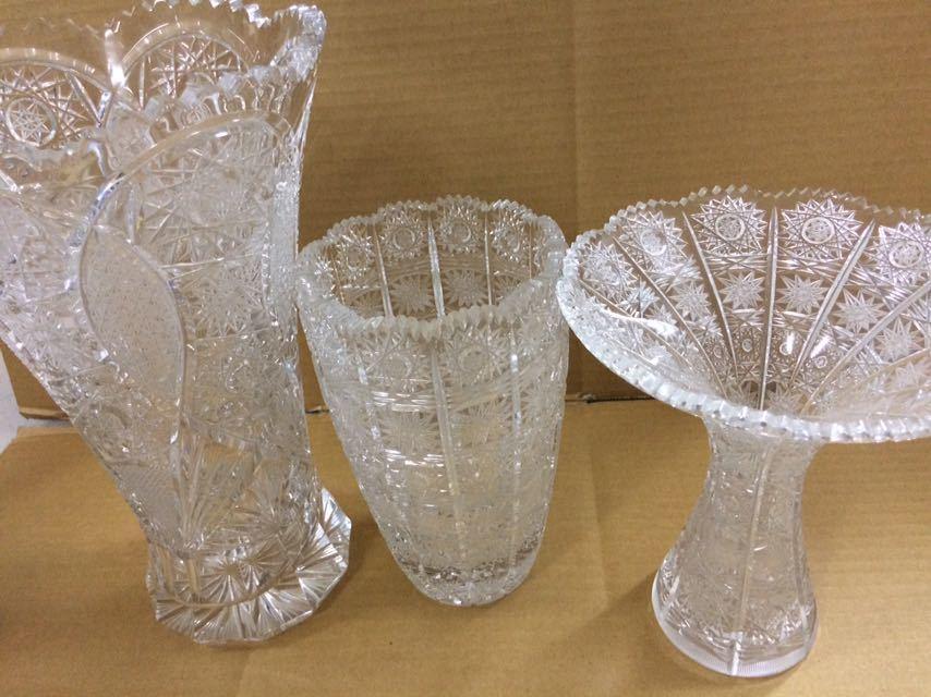 クリスタルガラス 花瓶 ボヘミア 大_画像5