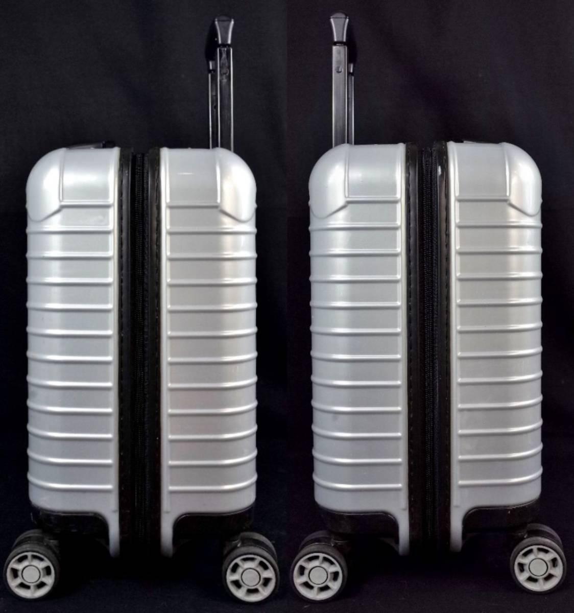 RIMOWA リモワ 844.40『SALSA サルサ』 ビジネス トローリー 4輪 TSAロック 27L(人気完売色:クラッシックシルバー) 美品  _画像6