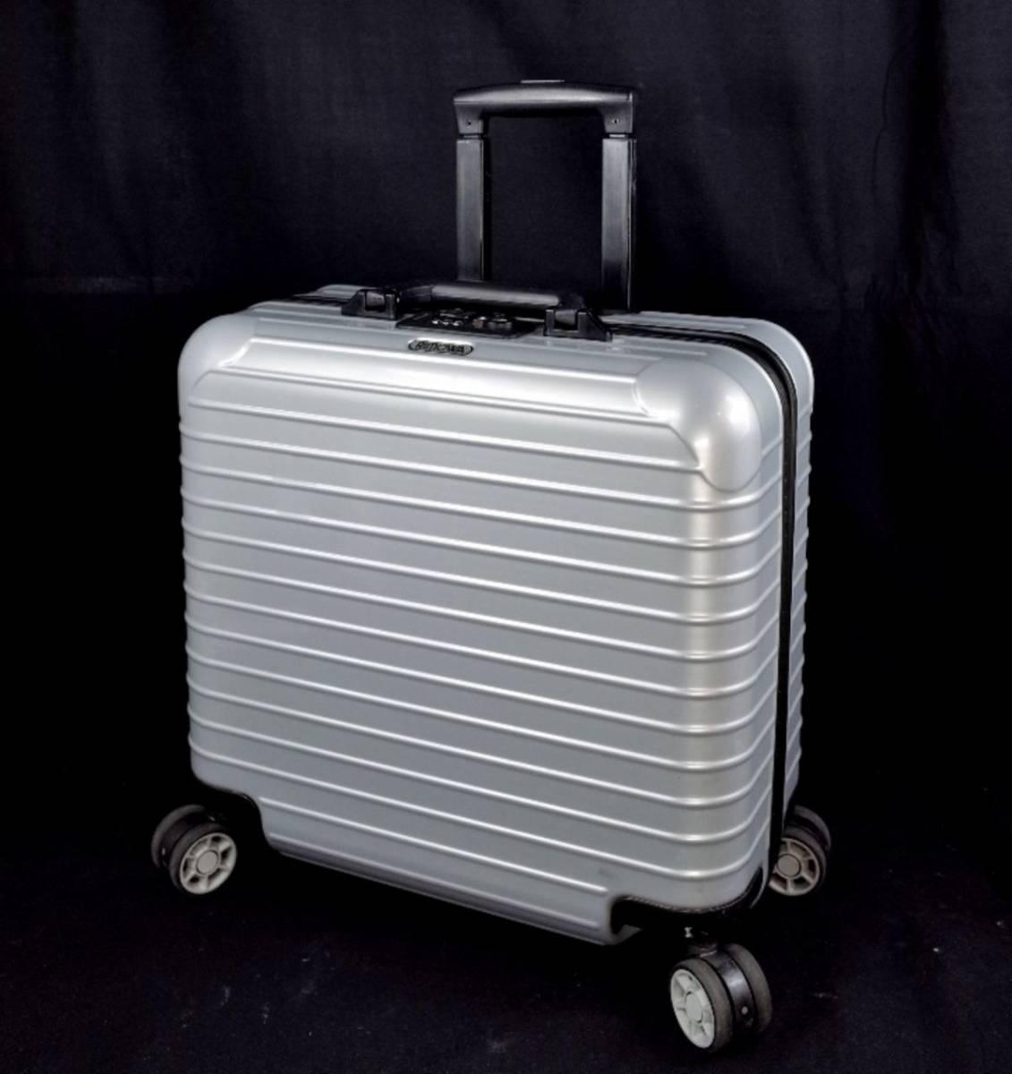 RIMOWA リモワ 844.40『SALSA サルサ』 ビジネス トローリー 4輪 TSAロック 27L(人気完売色:クラッシックシルバー) 美品  _画像1