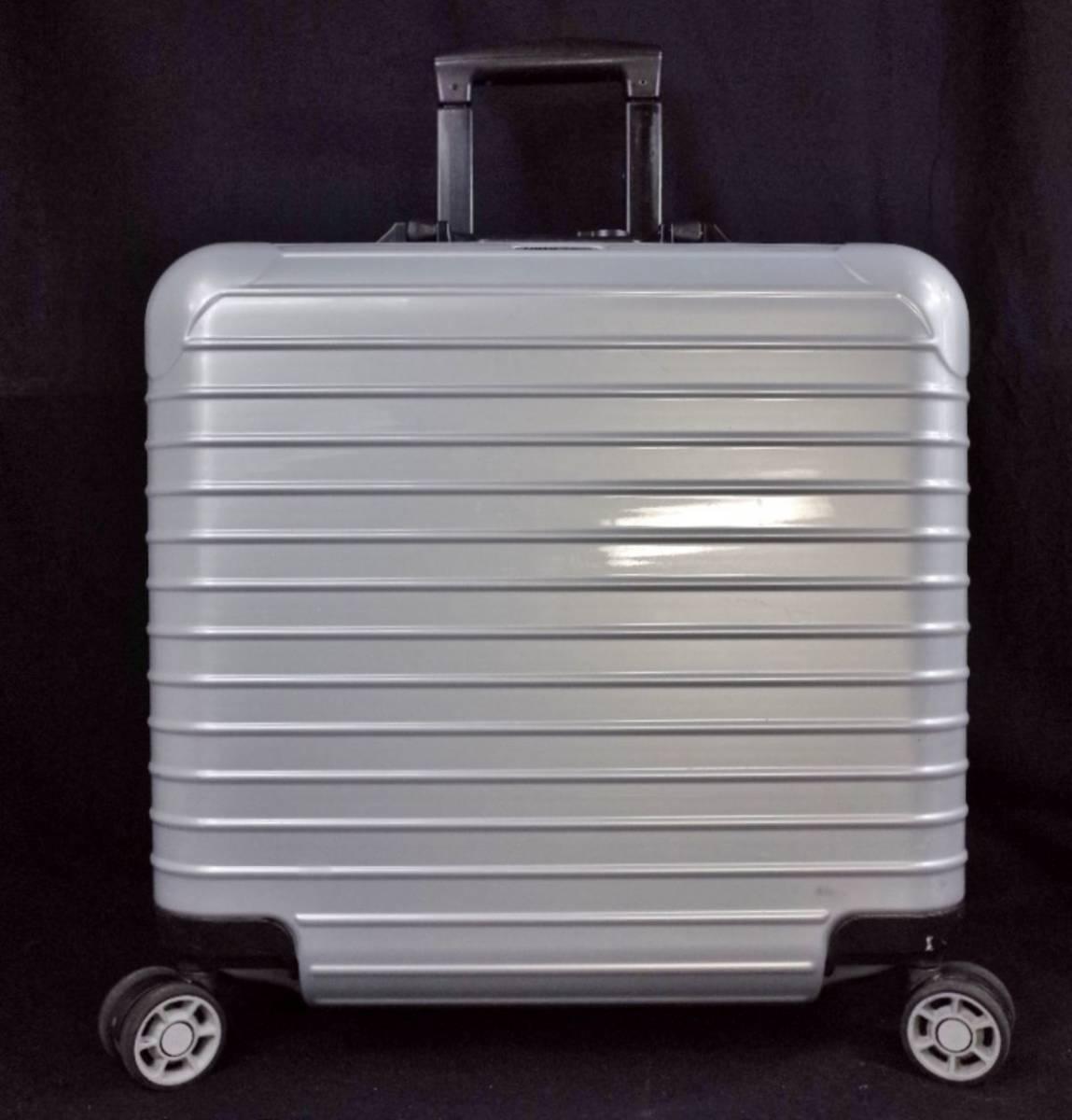RIMOWA リモワ 844.40『SALSA サルサ』 ビジネス トローリー 4輪 TSAロック 27L(人気完売色:クラッシックシルバー) 美品  _画像3