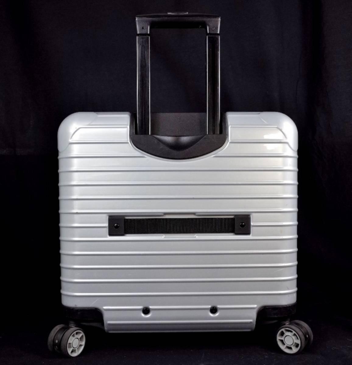 RIMOWA リモワ 844.40『SALSA サルサ』 ビジネス トローリー 4輪 TSAロック 27L(人気完売色:クラッシックシルバー) 美品  _画像4