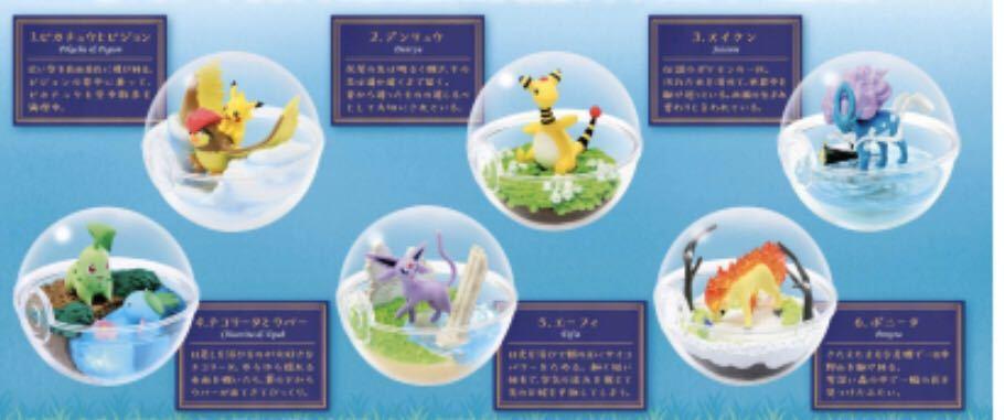 リーメント ポケットモンスター テラリウムコレクション 5 全6種 ポケモン ぷちサンプル フルコンプ  食玩 ミニチュア_画像1