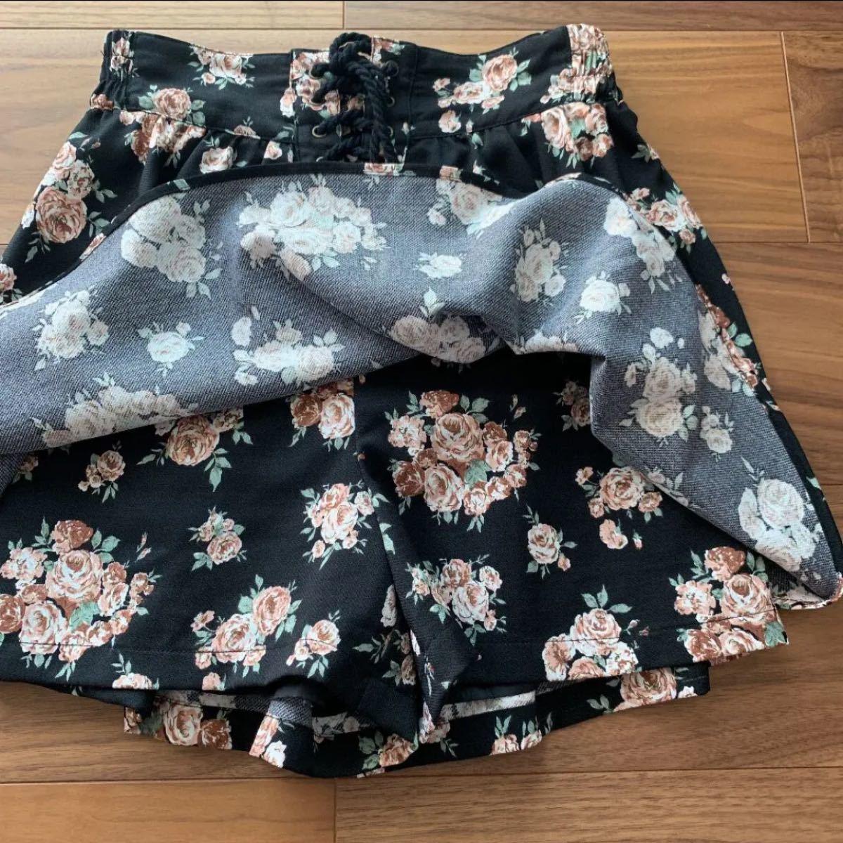 マジェスティックレゴン花柄キュロットスカート