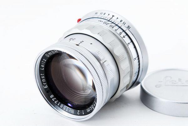 ライカ ズミクロン 5cm F2 逆ローレット 初代 Summicron Leica Ernst Leitz GmbH Wetzlar 50mm ライカ Mマウント ライツ ドイツ製 希少