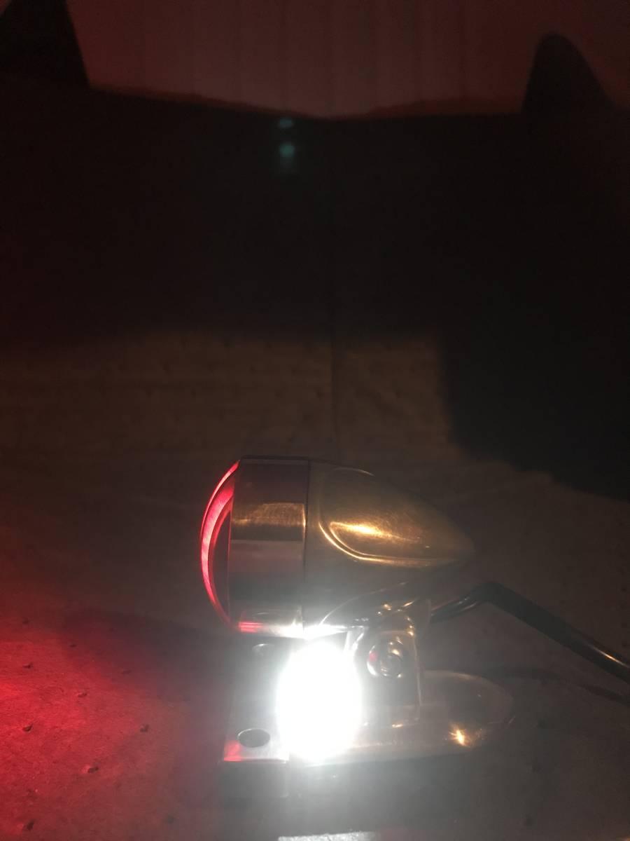 クラシックテールランプ 12V 二輪車テールランプ バイク用 汎用 チョッパー ボバー アメリカン ハーレー カスタムパーツ _ブレーキランプとナンバープレート灯