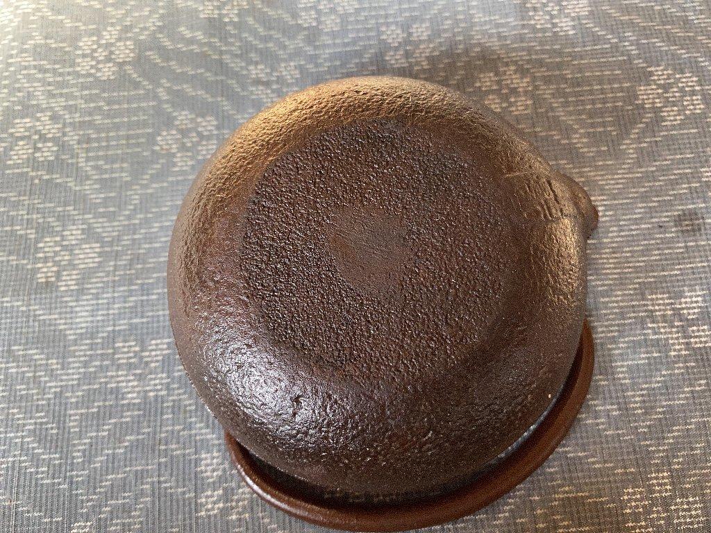 南部鉄器 柿葉紋 鉄瓶 岩鋳▼茶道具_画像9