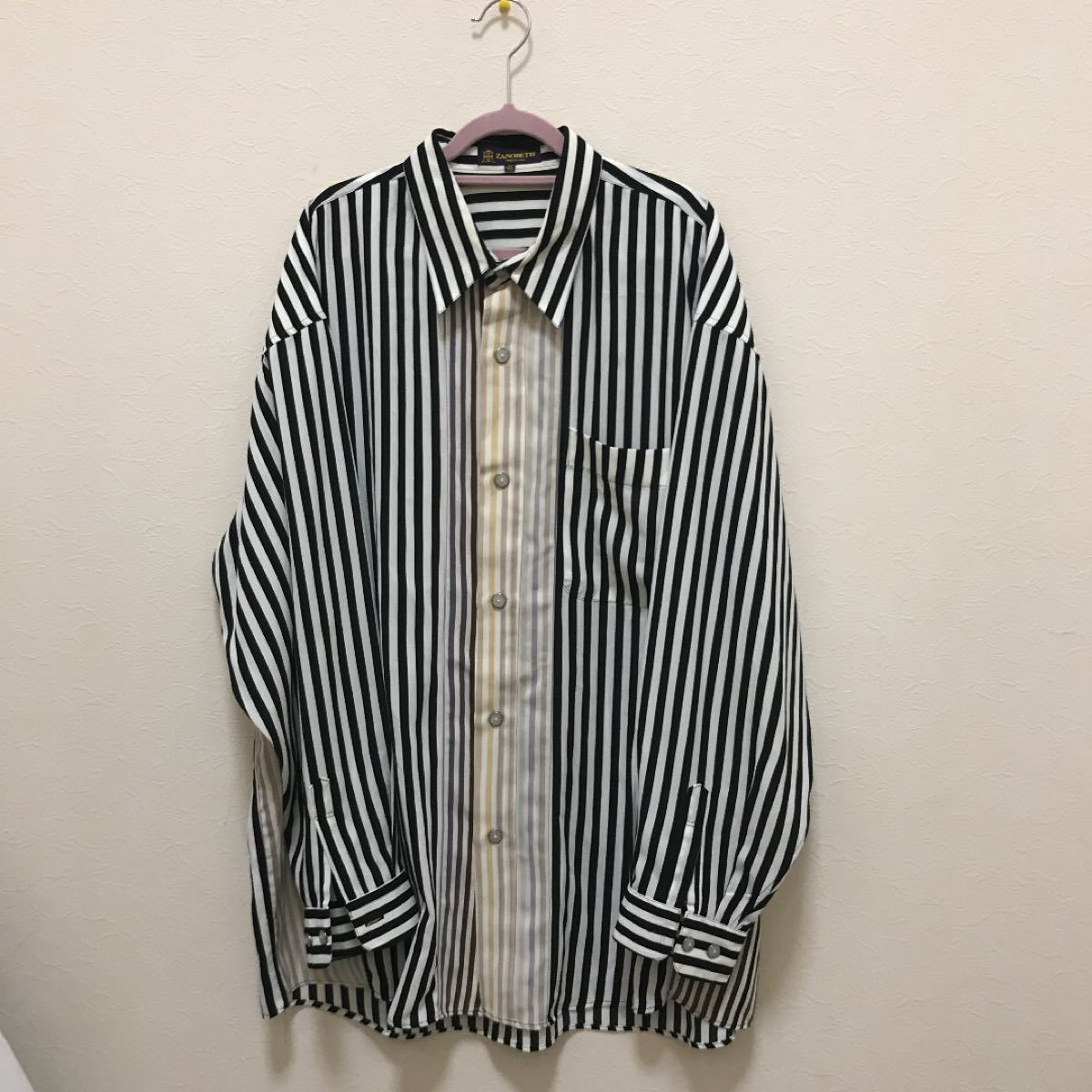【ZANOBETTI】メンズ シャツ ストライプシャツ 総柄 グラデーション