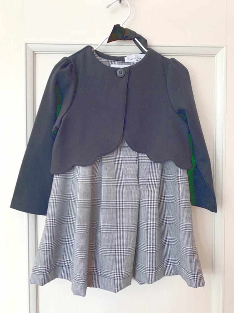 Will Mery(ウィルメリー) フォーマル 千鳥柄 ジャンパースカート ワンピース 100cm 入園・入学式 /卒園式 /結婚式/ 礼服 /発表会_※羽織ものは付いていません。