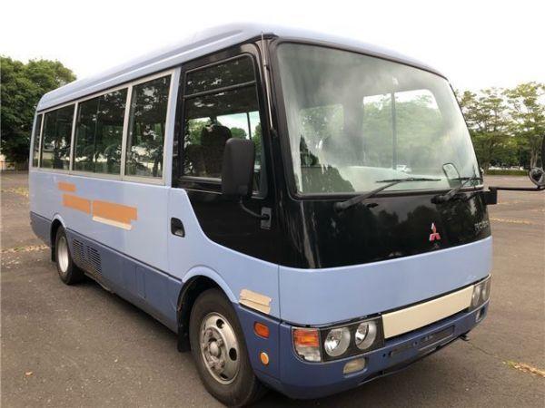 「H17 三菱 ローザ 車いす登録 ショート 20人乗 8ナンバー トランポ キャンピング AT 自動ドア 観音扉 バス」の画像2