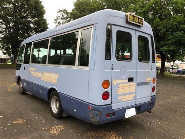 「H17 三菱 ローザ 車いす登録 ショート 20人乗 8ナンバー トランポ キャンピング AT 自動ドア 観音扉 バス」の画像3
