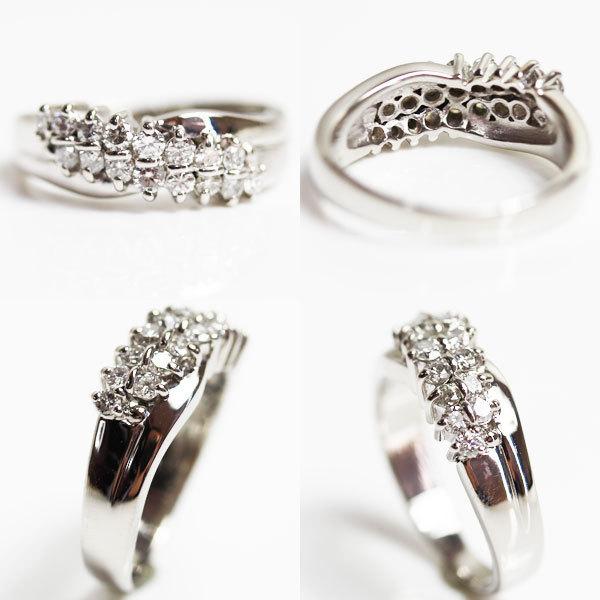 【MR2466】PT プラチナ ファッションリング ダイヤモンドリング 指輪 D0.59 7.0g サイズ13号【中古】【美品】【質屋出品】_画像2