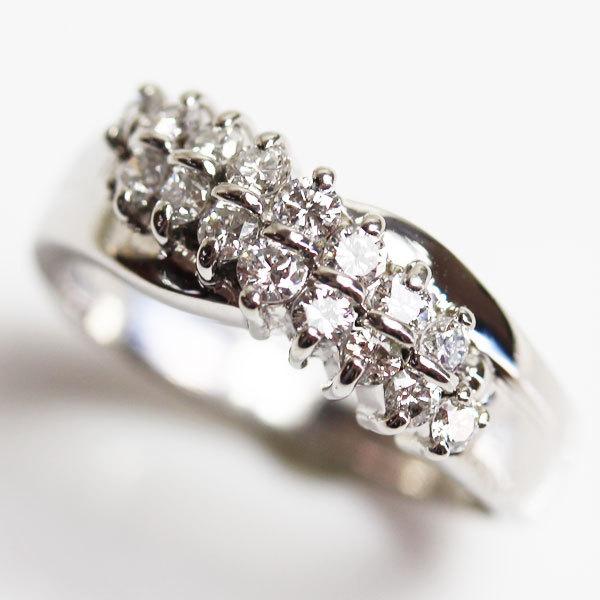 【MR2466】PT プラチナ ファッションリング ダイヤモンドリング 指輪 D0.59 7.0g サイズ13号【中古】【美品】【質屋出品】_画像1
