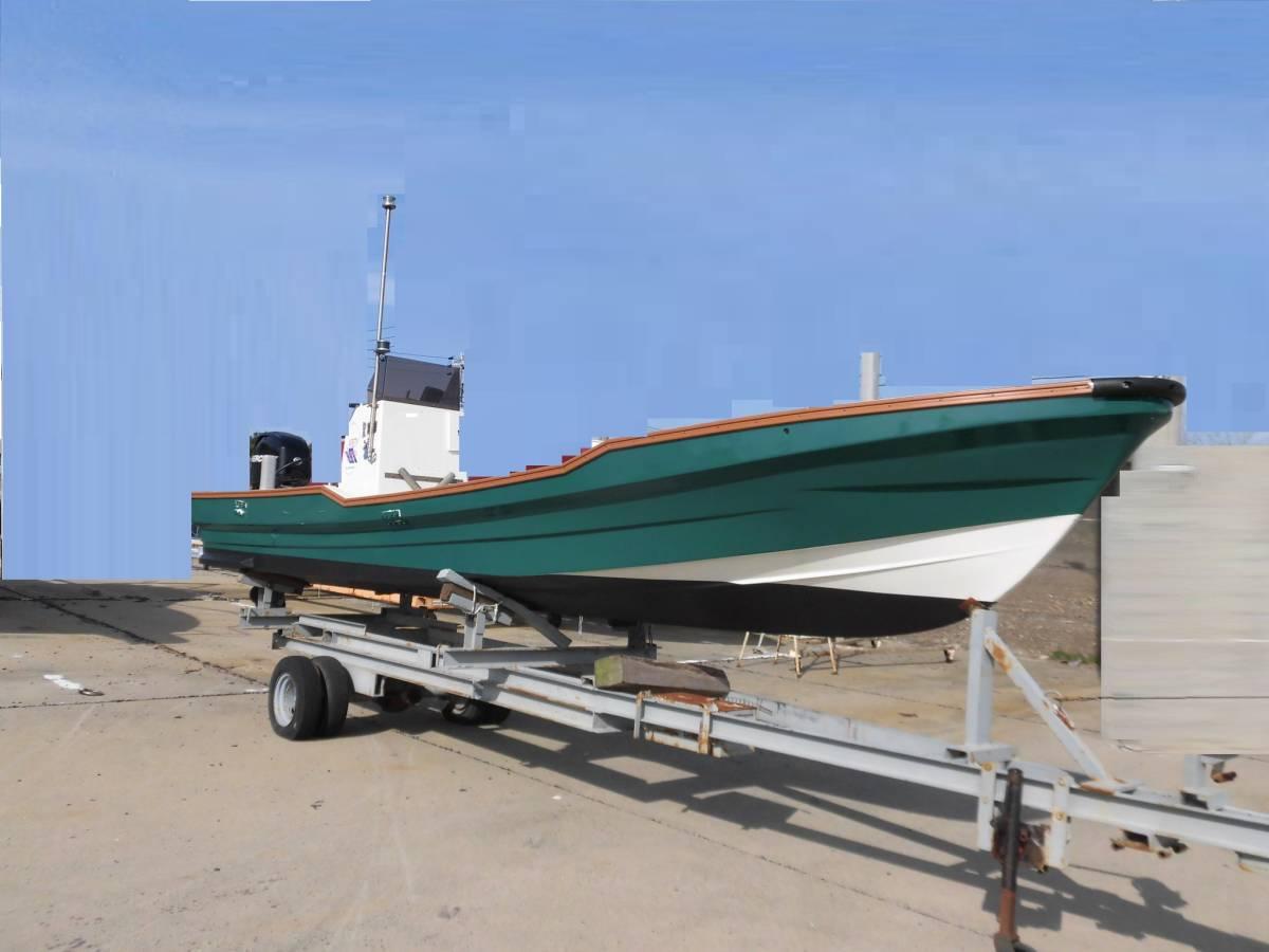 センターコンソール艇 23ft 4スト60馬力搭載_画像1
