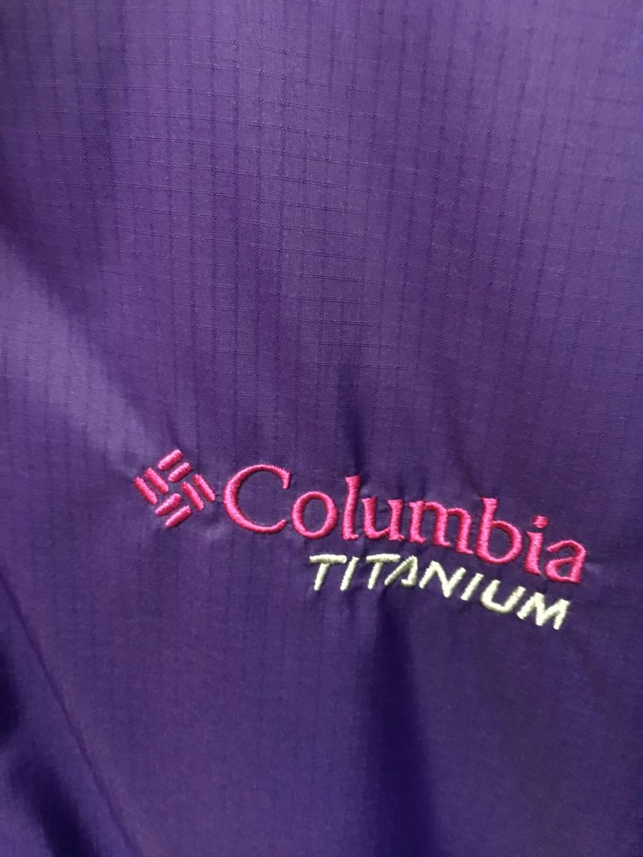 columbia リバーシブル 中綿 ジャケット メンズ XL パープル 内側チェック柄 ホワイト×ブラウン系 PM5206 アウター コロンビア SS-638992_画像4