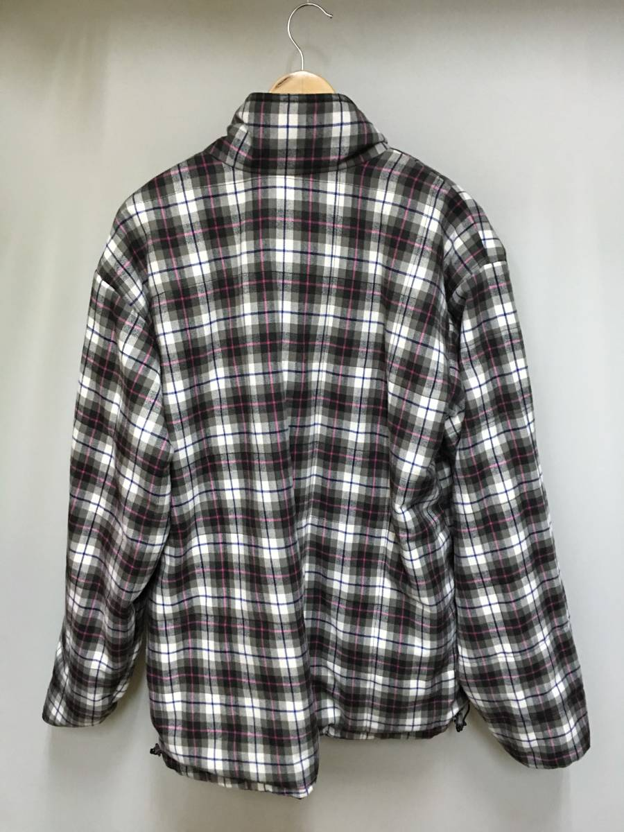 columbia リバーシブル 中綿 ジャケット メンズ XL パープル 内側チェック柄 ホワイト×ブラウン系 PM5206 アウター コロンビア SS-638992_画像6