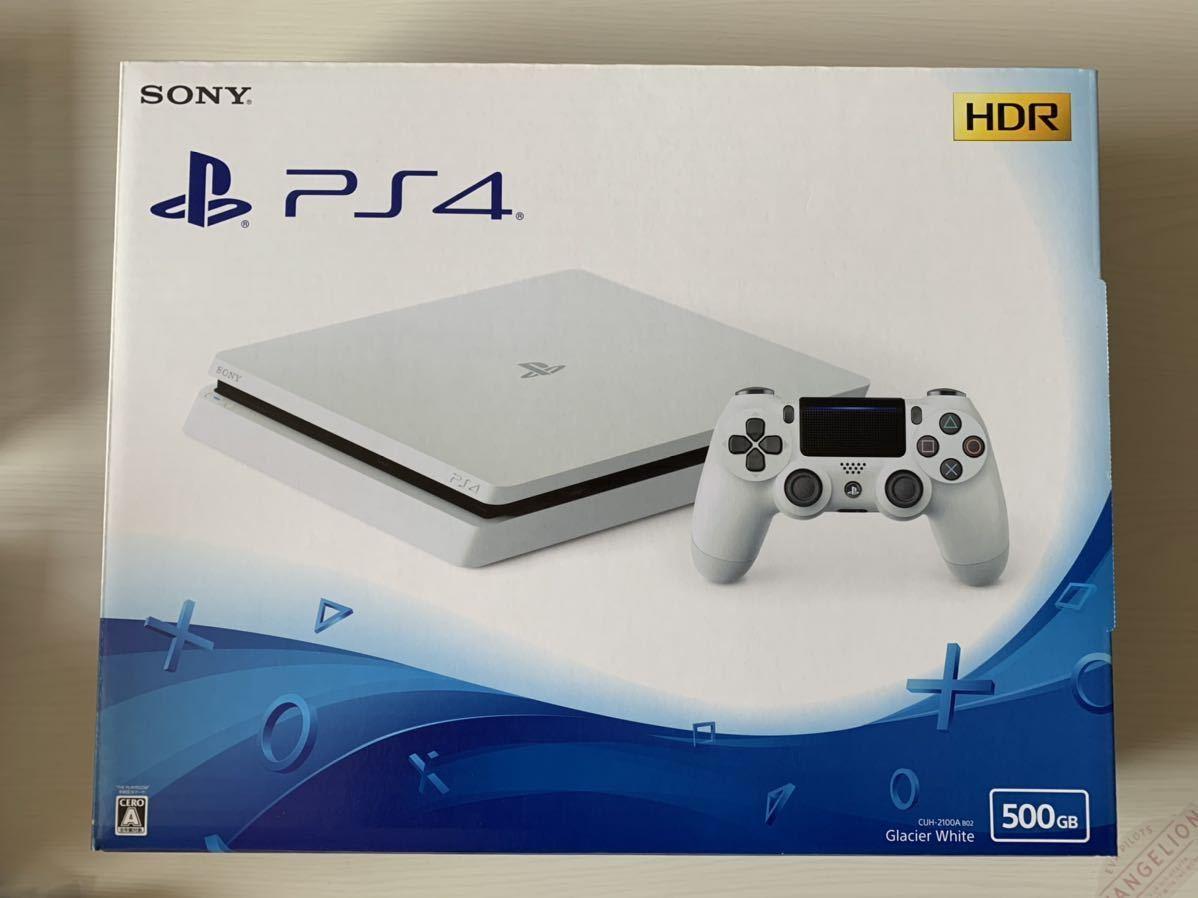 【動作確認済み!送料込み!】SONY PlayStation4 CUH-2100AB02(500GB)グレイシャーホワイト 充電スタンドつき PS4_画像1