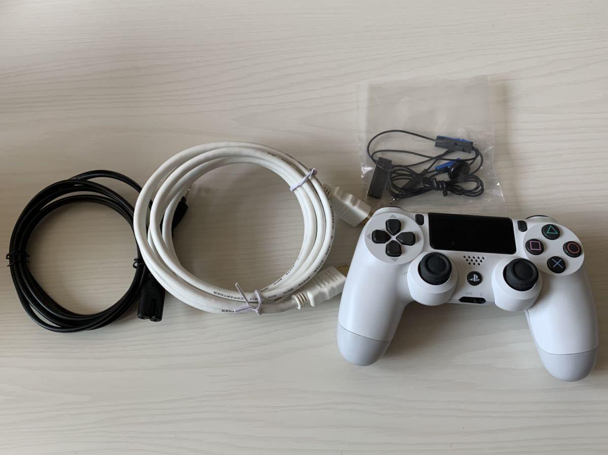 【動作確認済み!送料込み!】SONY PlayStation4 CUH-2100AB02(500GB)グレイシャーホワイト 充電スタンドつき PS4_画像4
