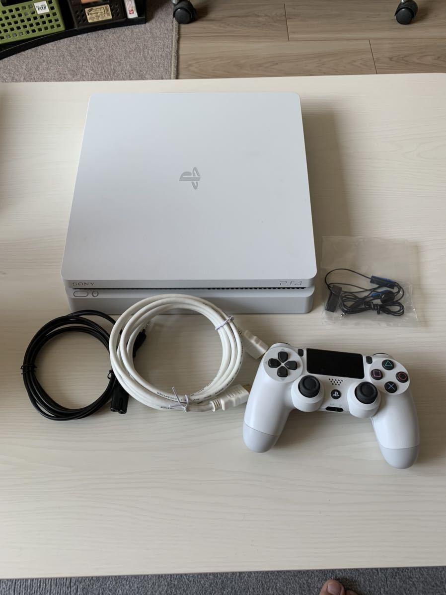 【動作確認済み!送料込み!】SONY PlayStation4 CUH-2100AB02(500GB)グレイシャーホワイト 充電スタンドつき PS4_画像2
