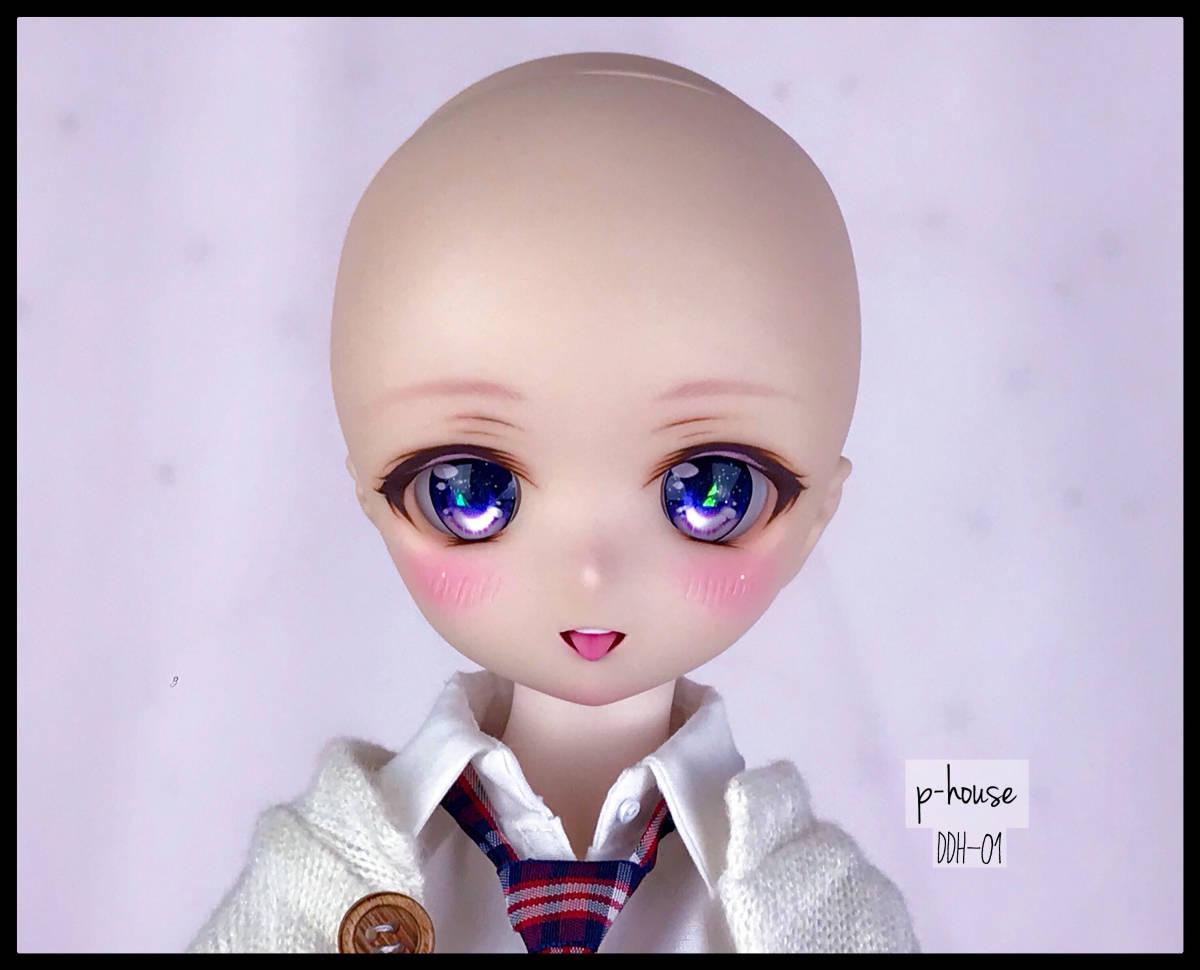【p-house】 DDH-01 カスタムヘッド 舌パーツ(磁石式) レジンアイ フレッシュ肌_画像9