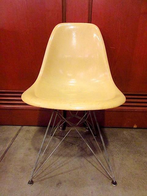ビンテージ50's★Herman Miller エッフェルベース FRPサイドシェルチェア 1st★200328f5-chr ハーマンミラーイームズ椅子家具初期_画像2