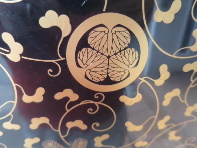 :【古都京都】「葵紋蒔絵長火鉢D-182」家具・民具・調度品.蒔絵・置物・時代箪笥〝家〟_画像4