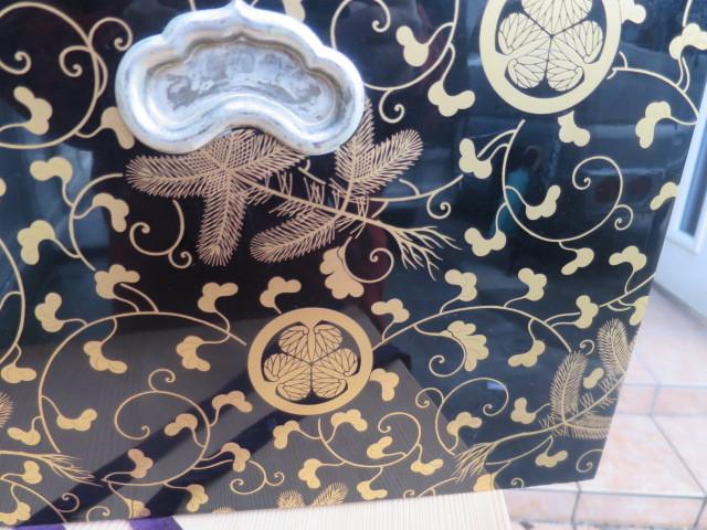 :【古都京都】「葵紋蒔絵長火鉢D-182」家具・民具・調度品.蒔絵・置物・時代箪笥〝家〟_画像7