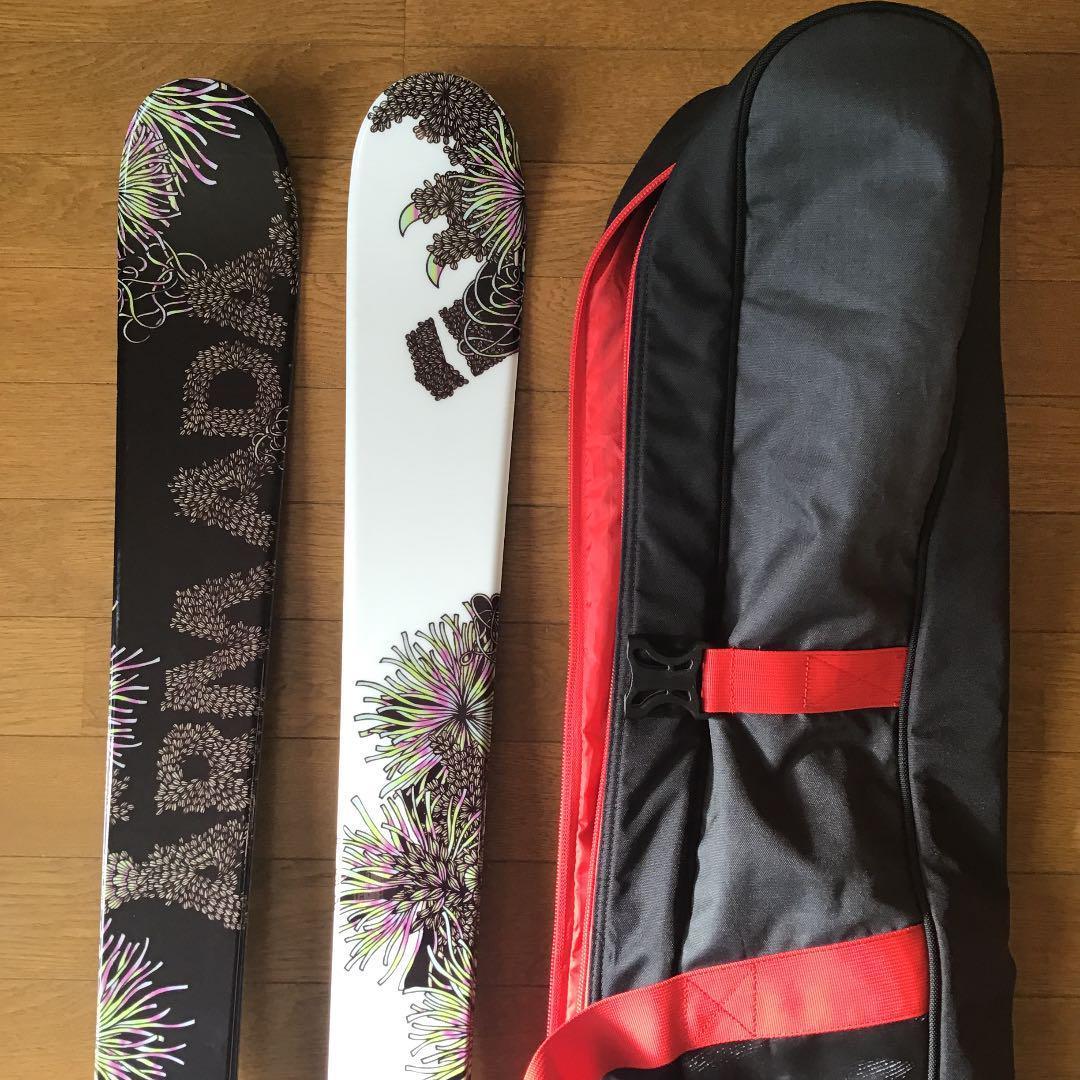 男女OK アルマダ ARMADA Cantika 157㎝ ツインチップ フリースタイル パーク ジブ スキー ライン スキーケース