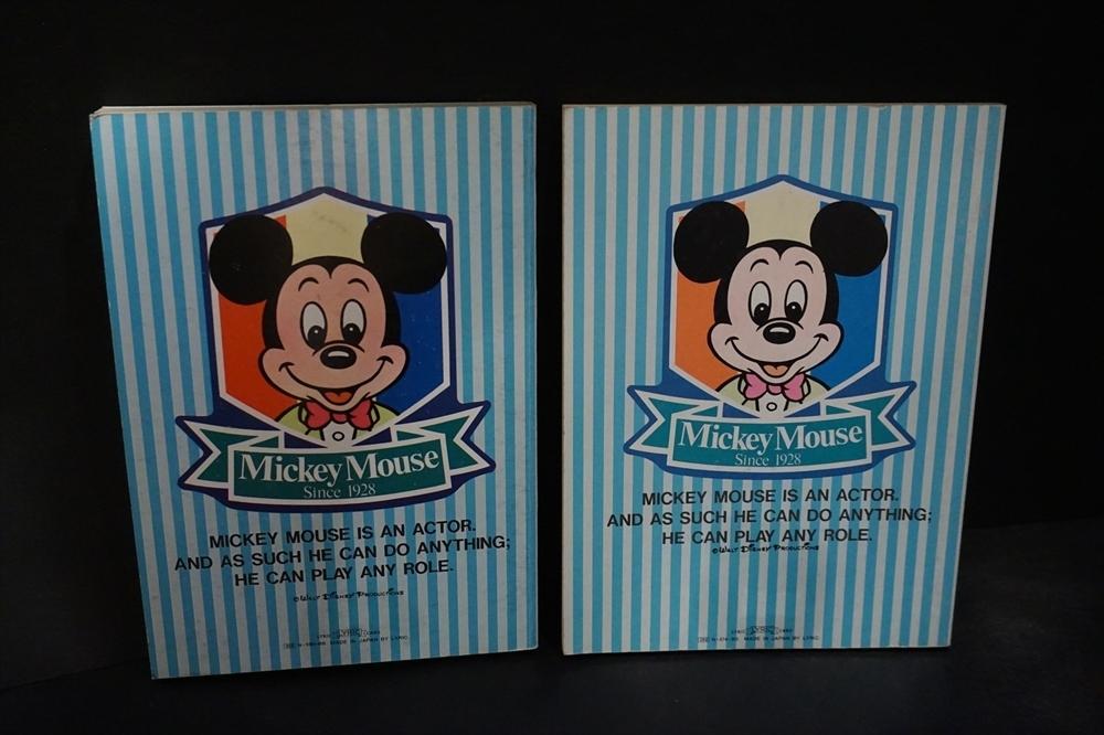 レトロ 昔 ミッキーマウス 日記帳 小遣い帳 2点 倉庫品 ビンテージ ディズニー 雑貨_画像4