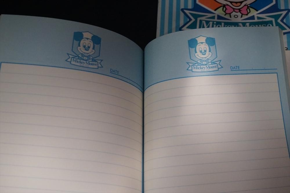 レトロ 昔 ミッキーマウス 日記帳 小遣い帳 2点 倉庫品 ビンテージ ディズニー 雑貨_画像8