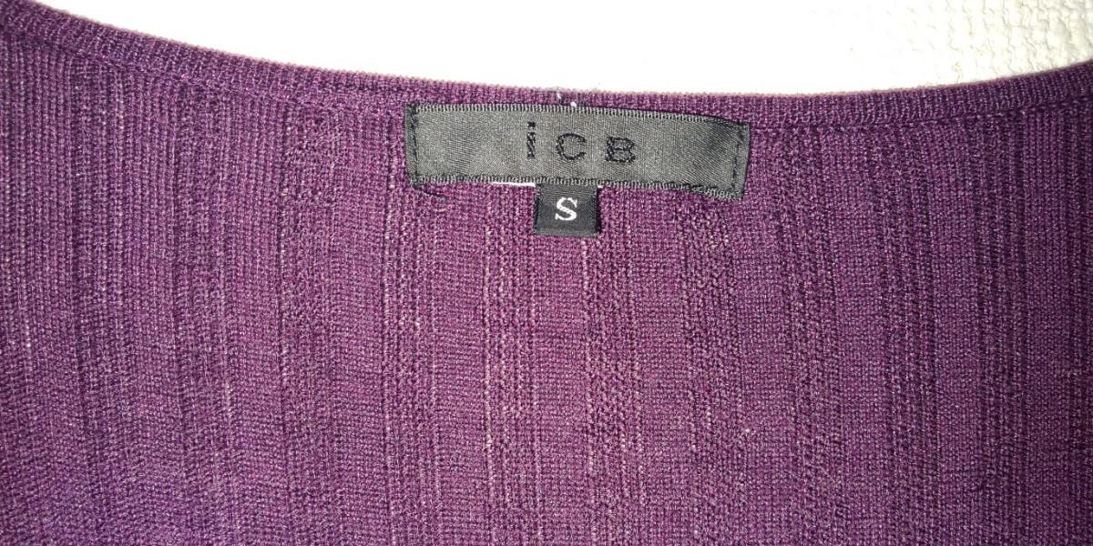 ★ICB  濃紫カシュクールカットソー